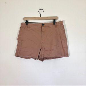 Madewell High Rise Raw Hem Shorts